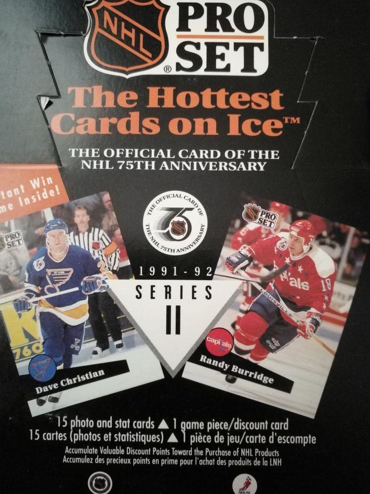 1991-92 PRO SET Series 2 Hockey Hobby Balíček