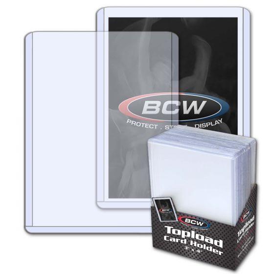 BCW Plastový toploader 20 Pt. - 25 ks