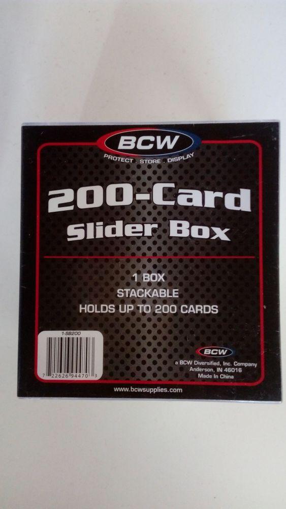 BCW Plastová krabička pro 200 karet velikosti 35 Pt.