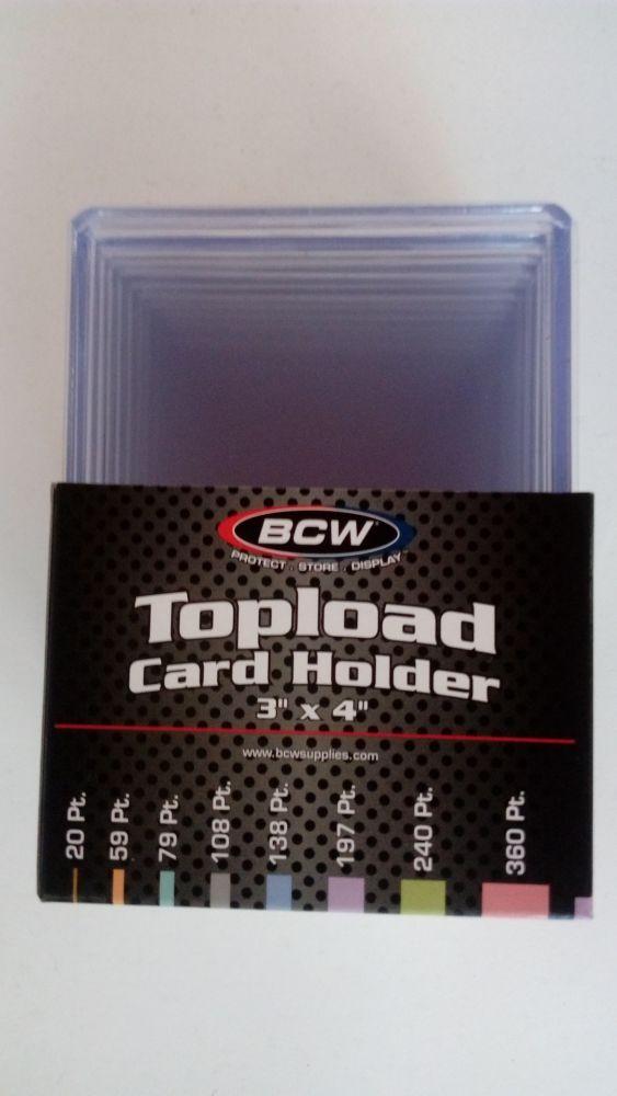BCW Plastový toploader 197 Pt. - 10 ks