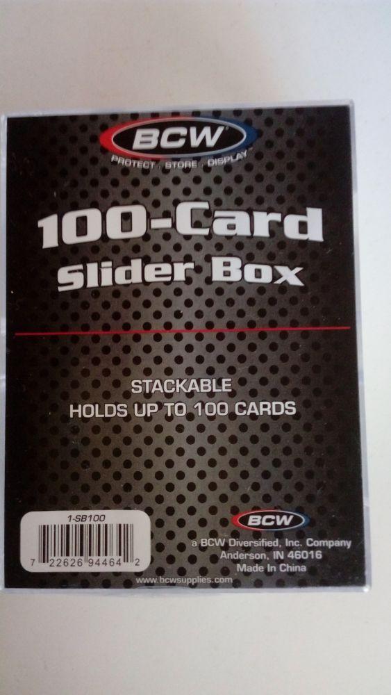 BCW Plastová krabička pro 100 karet velikosti 35 Pt.