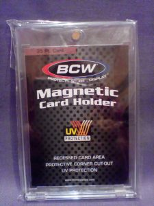 BCW 4 -SCREW CARD HOLDERs FULL BOX -STANDARD SPORTS CARD- RECESSED 20pt 15